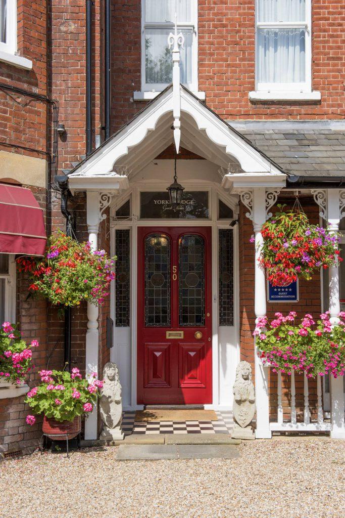 Yorke Lodge Bed & Breakfast Canterbury front door